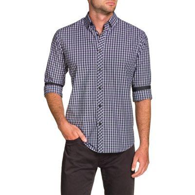 Fashion 4 Men - Tarocash Stephen Check Shirt Lilac S