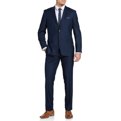 Fashion 4 Men - Tarocash Tanner 2 Button Check Suit Navy 40