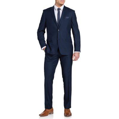 Fashion 4 Men - Tarocash Tanner 2 Button Check Suit Navy 50