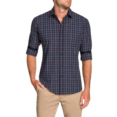 Fashion 4 Men - Tarocash Teller Check Shirt Navy 4 Xl