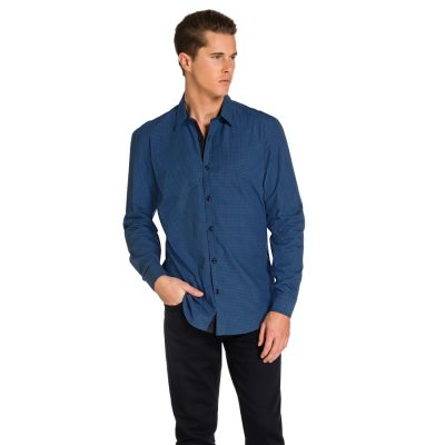 Fashion 4 Men - yd. Airlaw Slim Fit Shirt Blue 1 Xs