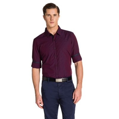 Fashion 4 Men - yd. Airlaw Slim Fit Shirt Red M