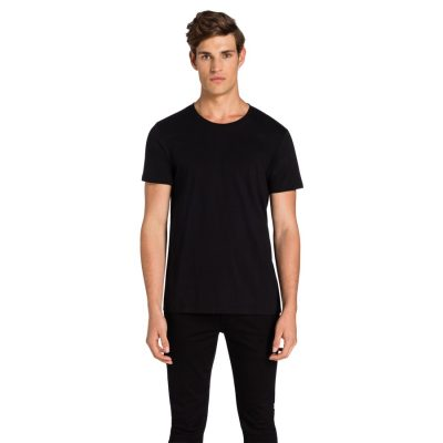 Fashion 4 Men - yd. Alpha Deluxe Crew Tee Black 2 Xs