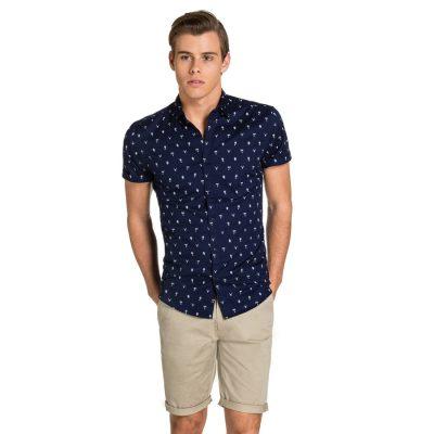 Fashion 4 Men - yd. Arizona Ss Shirt Navy S