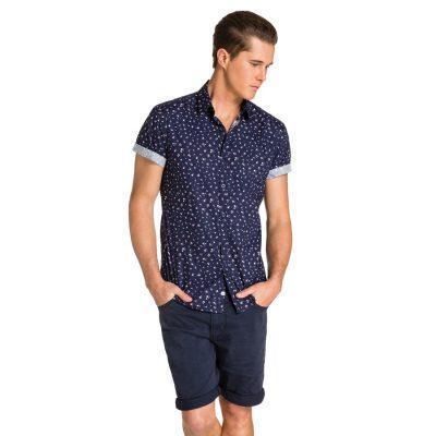 Fashion 4 Men - yd. Attica S/S Shirt Navy Xs