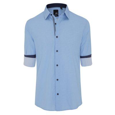 Fashion 4 Men - yd. Beau Slim Fit Shirt Light Blue L