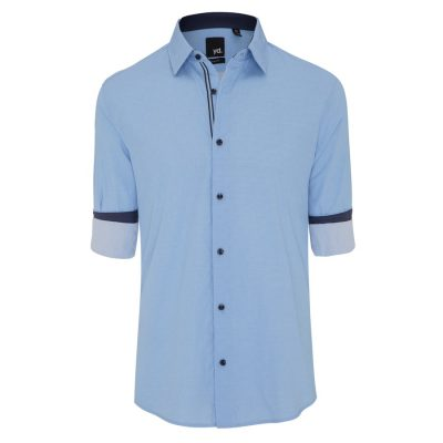 Fashion 4 Men - yd. Beau Slim Fit Shirt Light Blue Xl