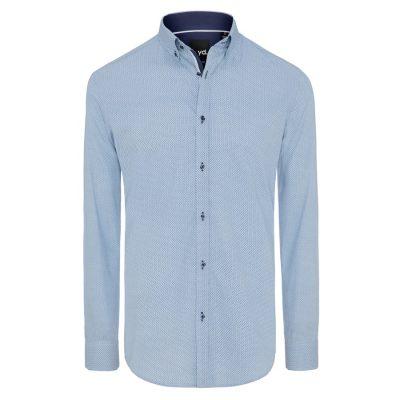 Fashion 4 Men - yd. Cael Slim Fit Shirt Blue L