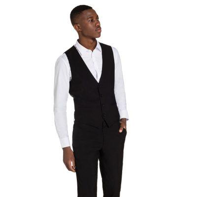 Fashion 4 Men - yd. Cahn Waistcoat Black L