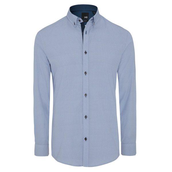 Fashion 4 Men - yd. Cato Slim Fit Shirt Blue Xl