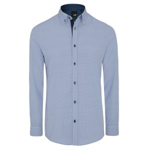 Fashion 4 Men - yd. Cato Slim Fit Shirt Blue Xxl
