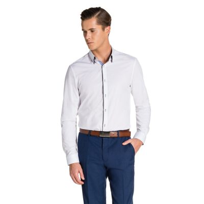 Fashion 4 Men - yd. Connaught Slim Fit Dress Shirt White S