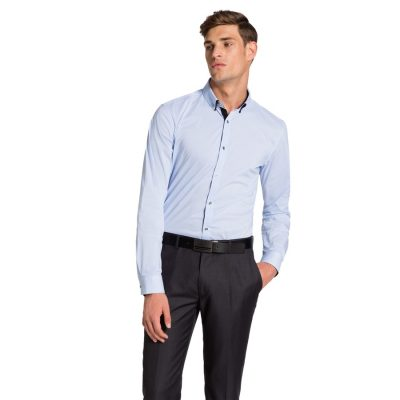 Fashion 4 Men - yd. Dane Slim Fit Shirt Sky S
