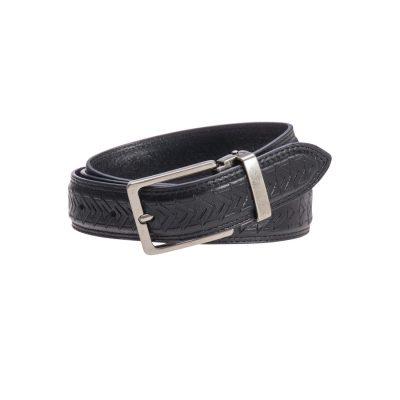 Fashion 4 Men - yd. Design Dress Belt Black 42