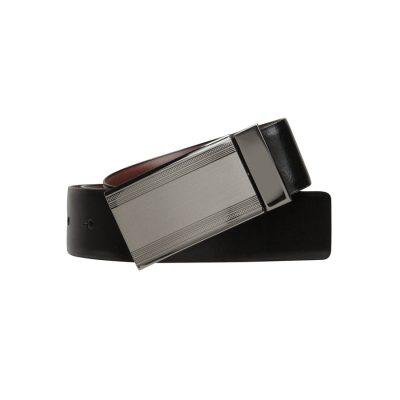 Fashion 4 Men - yd. Domino Stripe Belt Blk/Brn 34