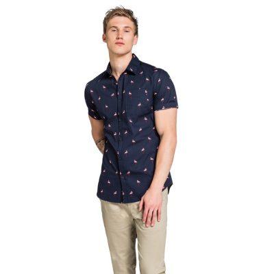 Fashion 4 Men - yd. Flamingo Ss Shirt Navy Xxl