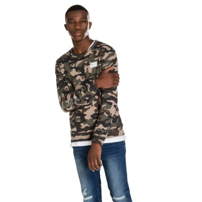 Fashion 4 Men - yd. Fort Camo Pullover Green 2 Xl