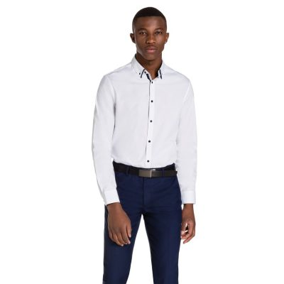 Fashion 4 Men - yd. Gibson Slim Fit Dress Shirt White Xxl