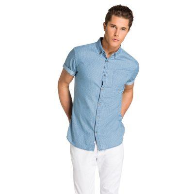 Fashion 4 Men - yd. Grainger S/S Shirt Denim Blue Xxl