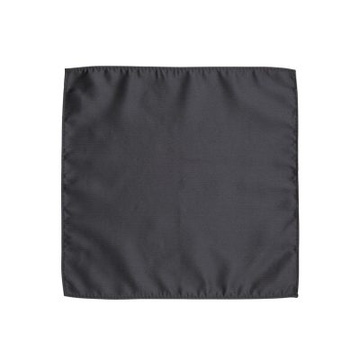 Fashion 4 Men - yd. Herringbone Pocket Square Black One