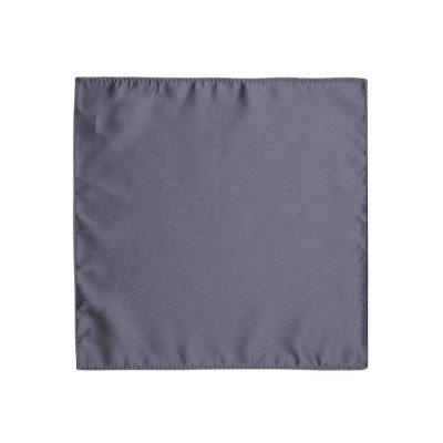 Fashion 4 Men - yd. Herringbone Pocket Square Charcoal One