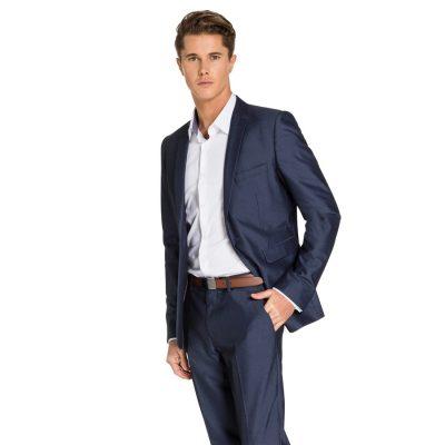 Fashion 4 Men - yd. Lambo Skinny Suit Storm Blue 44