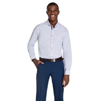 Fashion 4 Men - yd. Maison Dress Shirt Blue S