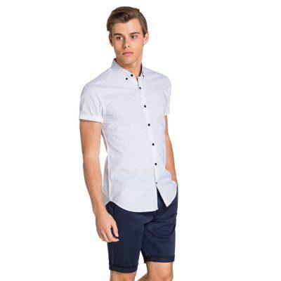 Fashion 4 Men - yd. Martino S/S Shirt Sky Paisley Xs