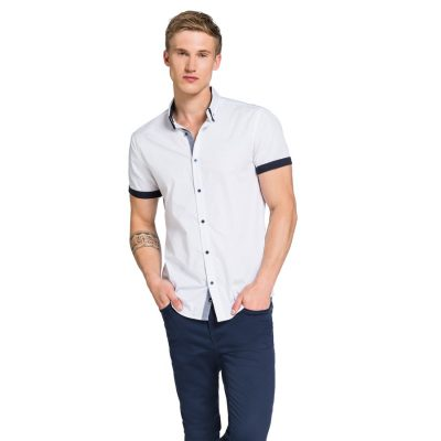 Fashion 4 Men - yd. Massey Ss Shirt White M