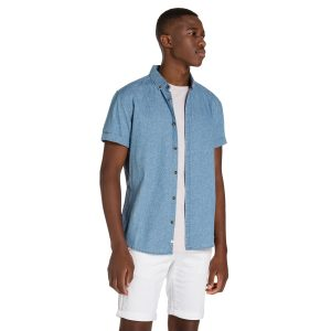 Fashion 4 Men - yd. Mosley S/S Shirt Denim Blue 2 Xs