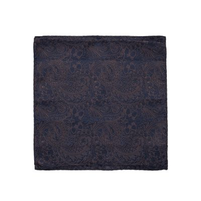 Fashion 4 Men - yd. Osta Pocket Square Dark Blue One