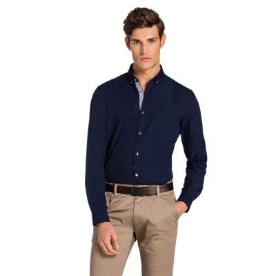 Fashion 4 Men - yd. Palazzo Slim Fit Shirt Navy Xl