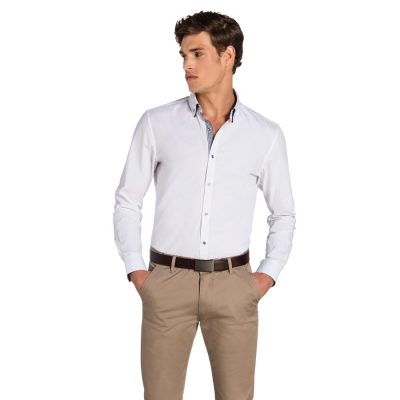 Fashion 4 Men - yd. Palazzo Slim Fit Shirt White L