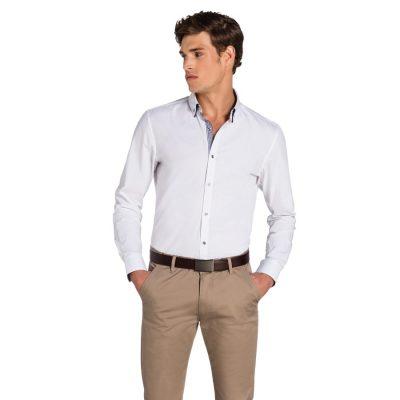 Fashion 4 Men - yd. Palazzo Slim Fit Shirt White Xxl