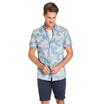 Fashion 4 Men - yd. Rawsen S/S Shirt Floral Blue S