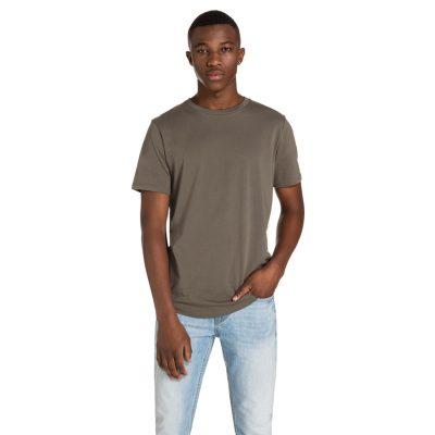Fashion 4 Men - yd. Remy Curved Hem Tee Khaki Xl