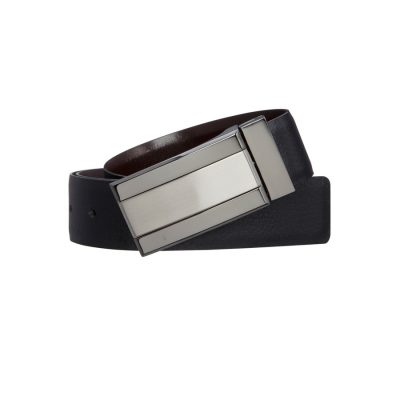 Fashion 4 Men - yd. Sage Dress Belt Black/Brown 36