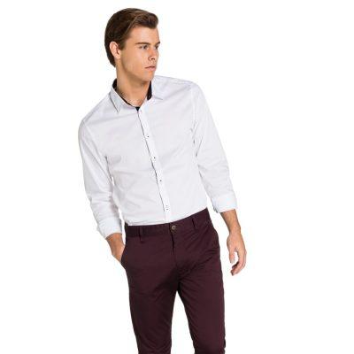 Fashion 4 Men - yd. Sebastian Slim Fit Shirt White S