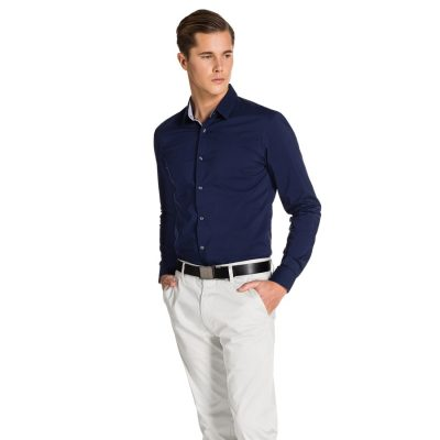 Fashion 4 Men - yd. Tood Slim Fit Shirt Navy Xs