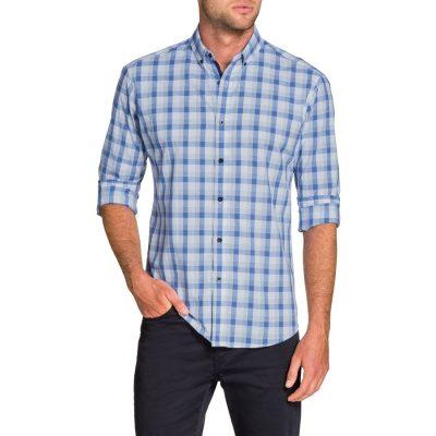 Fashion 4 Men - Tarocash Adrian Check Shirt White M