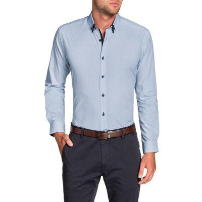 Fashion 4 Men - Tarocash Aero Print Shirt Sky 5 Xl