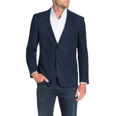 Fashion 4 Men - Tarocash Arbus Textured Jacket Navy Xxxl