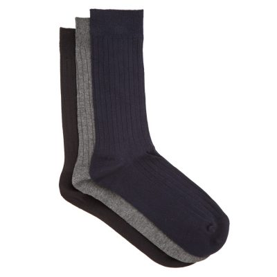 Fashion 4 Men - Tarocash Bamboo 3 Pk Sock Assorted 1
