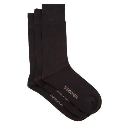 Fashion 4 Men - Tarocash Bamboo 3 Pk Sock Black 1