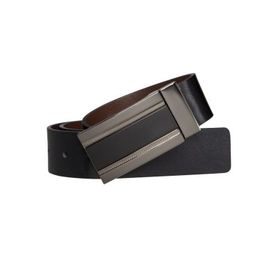 Fashion 4 Men - Tarocash Box Reversible Sbelt Choc/Black 34