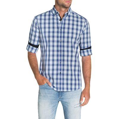 Fashion 4 Men - Tarocash Brody Check Shirt White Xxl