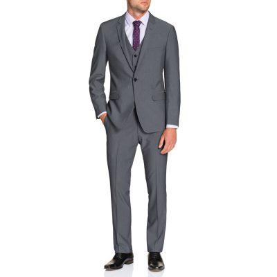Fashion 4 Men - Tarocash Chelsea Stretch 1 Button Suit Pewter 40