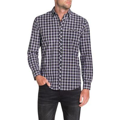 Fashion 4 Men - Tarocash Crane Check Shirt Lilac L