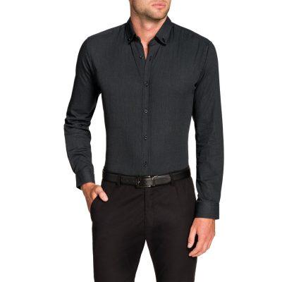 Fashion 4 Men - Tarocash Cyprus Textured Shirt Black Xxl