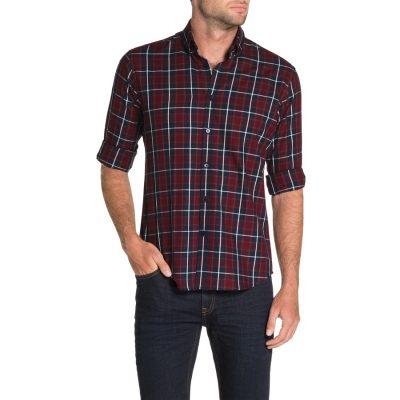 Fashion 4 Men - Tarocash Essential Check Shirt Burgundy Xxxl